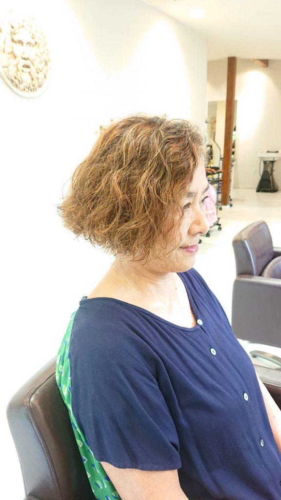 パーマ カラー ウィービング 白髪染めメッシュ
