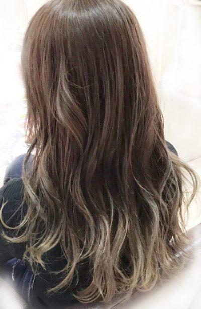 オイルカラーのグレイヘア